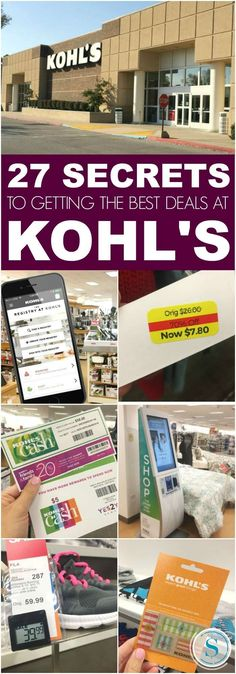 27 Incredible savings Hacks for Shopping at Kohl's, Stacking Coupons and Saving Money! These secrets to Shopping at Kohl's will help you learn how to save!