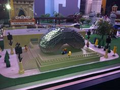 "See ""The Bean"" I built from LEGO bricks in Chicago MINILAND! Visit LEGOLAND Discovery Center Chicago"