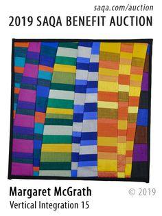 SAQA Benefit Auction Vertical Integration, Tape Art, Textiles, Fundraising Events, Small Quilts, Beautiful Artwork, Quilt Making, Textile Art, Unique Art