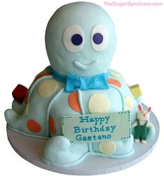 Octopus Birthday Cake by The Sugar Syndicate, via Flickr