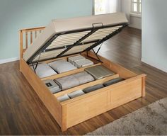 A stylish sleeping surface as well as an impressive means of storing belongings, the Phoenix Oak Wooden Ottoman Storage Bed is a naturally beautiful ottoman bed that is perfect for bedrooms that need to make the most of the space available in cosy room