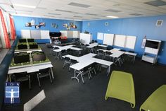 Designing To Engage Active Learning: Getting and keeping the attention of students is the most important/critical step in the learning process. Overall classroom design can help with this process.  Often we walk into classrooms and see the standard painted cinderblock walls, chalkboard/whiteboard and teacher's desk in front of rows and rows of student desks. Walking into most classrooms from elementary school through college you can expect this same layout. While this often maximizes space…