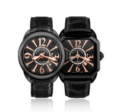 The Piccadilly Black Knight and Berkeley Black Knight. Swiss Luxury Watches, Signature Design, Automatic Watch, Casio Watch, Chronograph, Knight, Steel, Diamond, Accessories