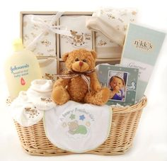 Gender Neutral Baby Gift Basket Shower Unique Gifts And