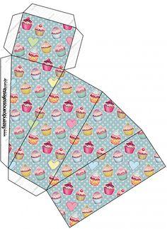 Caixa Fatia Cupcakes: