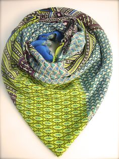 Tribal Pop Green Scarf