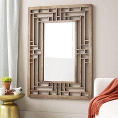 Art/Wall Decor - Fretwork Wall Mirror | west elm - fretwork wall mirror, fretwork mirror, mango wood mirror, lattice framed mirror,