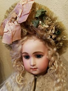 "25"" GORGEOUS ANTIQUE FRENCH TRISTE LONG FACE JUMEAU BEBE DOLL w/restoration in  
