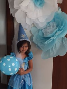 Cinderella birthday huge flower