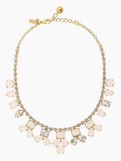 Kate Spade Secret Garden necklace $148 - white/clear