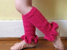 super cute knit leg warmers for little girls