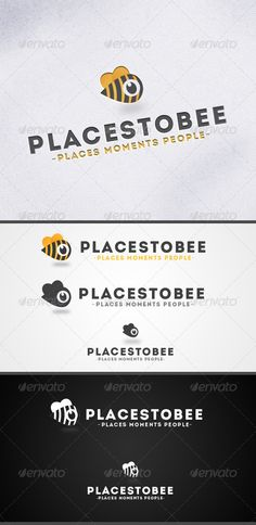 Places to Bee-Location Marker  Logo Design Template Vector #logotype Download it here: http://graphicriver.net/item/places-to-beelocation-marker-logo-/3826801?s_rank=1508?ref=nexion