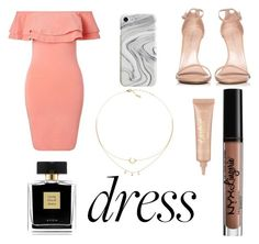 """""""Dreamy Dress"""" by andreaaaaa23 ❤ liked on Polyvore featuring Miss Selfridge, Stuart Weitzman, Recover, Avon, NYX and tarte"""
