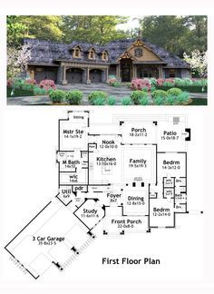 Craftsman House Plan 65877 | Total Living Area: 2495 sq. ft., 3 bedrooms and 2.5 bathrooms. #craftsmanhome
