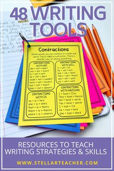 I am always looking for tools and resources that will make my students more independent writers. I love this resource ring. I can customize and differentiate which tools I give to my students. The resource cards are written in student friendly language and have just enough of a reminder to get them using the strategies or skills I've taught. Writing Strategies, Writing Lessons, Writing Resources, Teaching Writing, Writing Activities, Teaching Tips, Teacher Resources, Writing Rubrics, Paragraph Writing