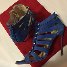 Christian Louboutin 40 Blue Super cute authentic Christian Louboutin. Pre loved. Wear and tears are shown in pics and reflects the price. Please no trades or haggling! Shoes Heels