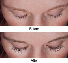 ((castor oil, coconut oil)) before and after eyelash growth