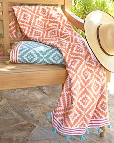 Alabat Beach Towel by John Robshaw at Neiman Marcus.