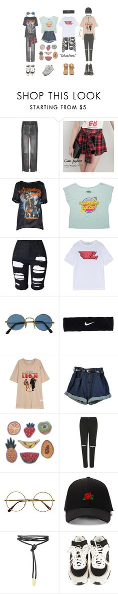 """""""all mine"""" by serin123 ❤ liked on Polyvore featuring Vetements, Cutie Fashion, Dsquared2, Retrò, Carven, NIKE, Topshop, Chanel and Dr. Martens"""