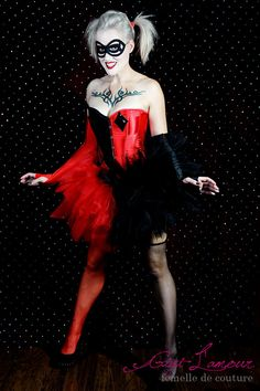 Harley : EVERYTHING INCLUDED  Burlesque Comic Book Tulle Corset Costume Fantasy Fairy Sexy Adult Women's