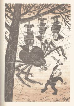 1976 edition of The #Hobbit published in the Soviet Union has illustrations by M. #Belomlinskij