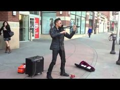 EPIC Electric Violin Street Musician - Song: Secrets One Republic
