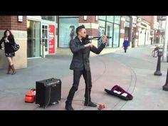 EPIC Electric Violin Street Musician - Song: Secrets One Republic