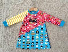 Handmade colorful fun longsleeve dress high by NoNiMadewithlove