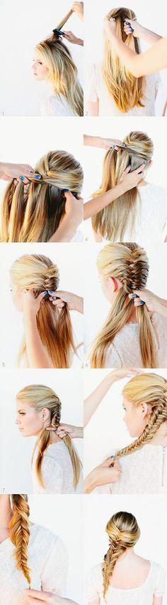 How-to: French fishtail   Hair Tutorial | Diy Hair | Hair Style