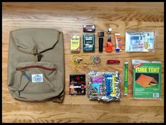 The Nitty Gritty About Survival Kits---Survival kit essentials and backpack [Image: thenexttrailhead.com/post/45569963707/diy-first-aid-wilderness-survival-kit]