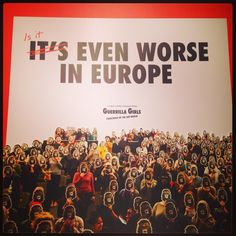Interesting findings on #diversity in the #arts following a research project led by the Guerrilla Girls, now showing at the Whitechapel Gallery in #London.  #Art #Culture #Gender #Women #Feminism #Equality