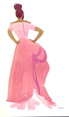 """""""Pink Evening Gown"""" by L. O'Neal"""