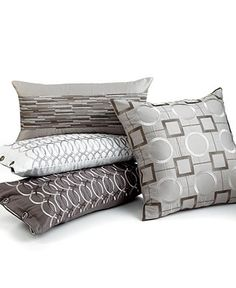 """Hotel Collection Bedding, Embroidered Platinum 10"""" x 20"""" Decorative Pillow - Bedding Collections - Bed & Bath - Macy's"""