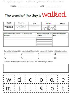 word of the day freebie altered for older kids