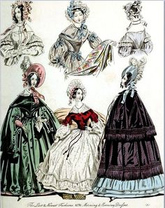 The World of Fashion and Continental Feuilletons 1836 Plate 53 by CharmaineZoe, via Flickr