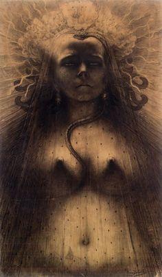 L'Ange du Bizarre – Le Romantisme noir de Goya à Max Ernst. - Auror' Art and Soul Jean Delville, Max Ernst, Idole, Bizarre, Mystique, Pre Raphaelite, Illustration, Poster Prints, Art Prints