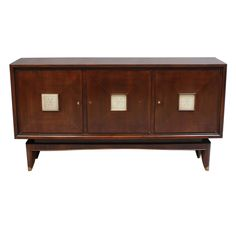 French Art Deco Sideboard with Parchment Details   From a unique collection of antique and modern sideboards at https://www.1stdibs.com/furniture/storage-case-pieces/sideboards/