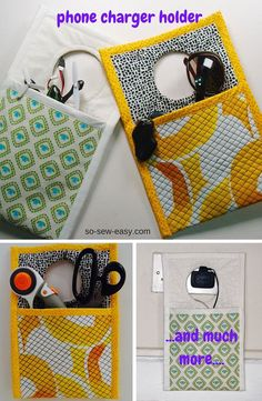 Check out this cute idea for a phone charger holder! Do you think you could do this DIY?