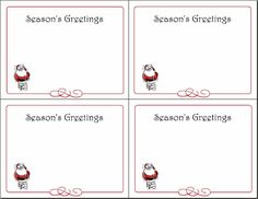 printable christmas note cards