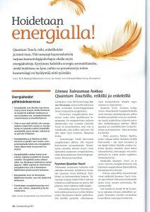 Juttu täydentävistä hoidoista kosmetologin työssä. 1/14 Kosmetologi SKY