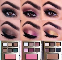 Makeup using the Grande Hotel Café from the 2016 Too Faced Holiday Collection