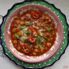 Garbanzo bean Chili-Sopa de Garbanzos
