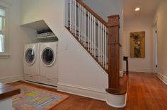 laundry under staircase | Laundry Photos Under Stairs Design, Pictures, Remodel, Decor and Ideas ...
