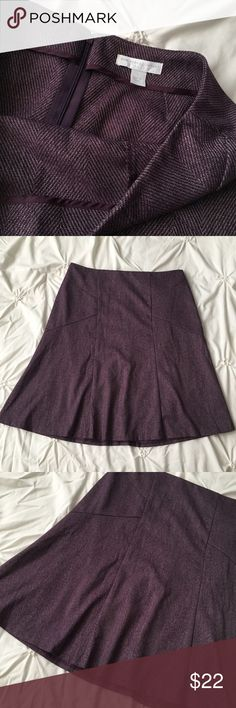 New York & Company Purple/Black Herringbone Skirt New York & Company Purple/Black Herringbone Skirt size 6 with zip back & flare detail  ----- 🚭 All items are from a non-smoking home. 👆🏻Item is as described, feel free to ask questions. 📦 I am a fast shipper with excellent ratings. 👗I love bundles & bundle discounts. Feel free to make an offer! 😍 Like this item? Check out the rest of my closet! 💖 Thanks for looking! Skirts