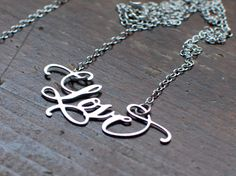 Calligraphy Necklace - with different words!