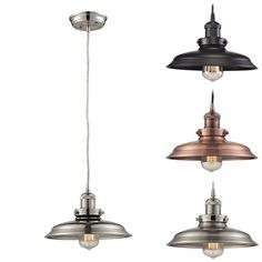 The Newberry Lighting Collection has a vintage / restoration character in both style and detailing with a spun metal shade held...
