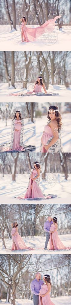 Maternity Shoot | Heidi Hope Photography | Snow | Outdoor Maternity | New England