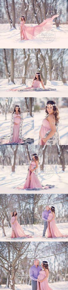 Maternity Shoot | Heidi Hope Photography | Snow | Outdoor Maternity | New England