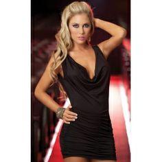 Black Sexy Cocktail Mini Dress $29.99