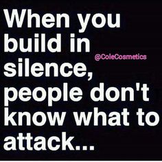 Good morning... Always move in silence!
